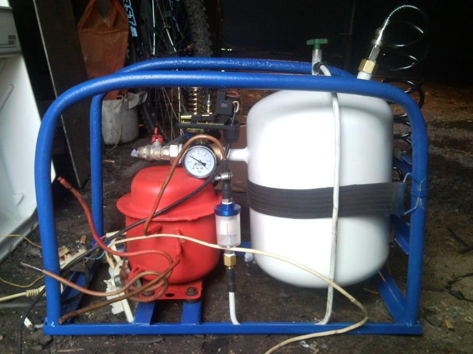 Как сделать с компрессора от холодильника насос