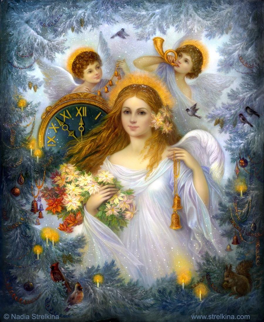 Картинки ангела с рождеством