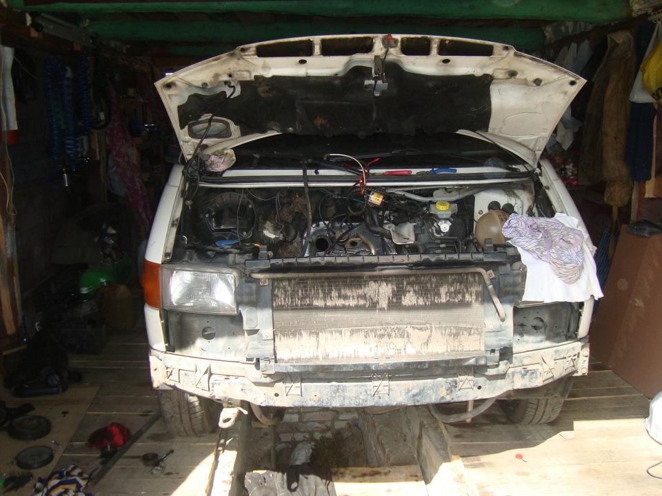замена двигатель на транспортер т4