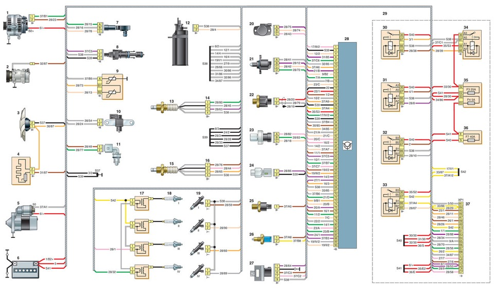 Схема двигателя форд сиерра фото 249