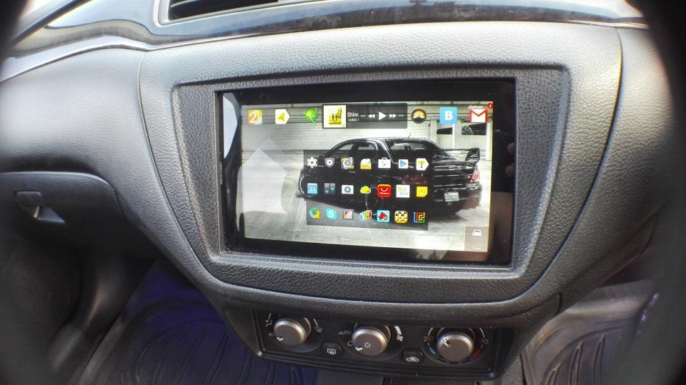 Установка планшета в машину вместо магнитолы
