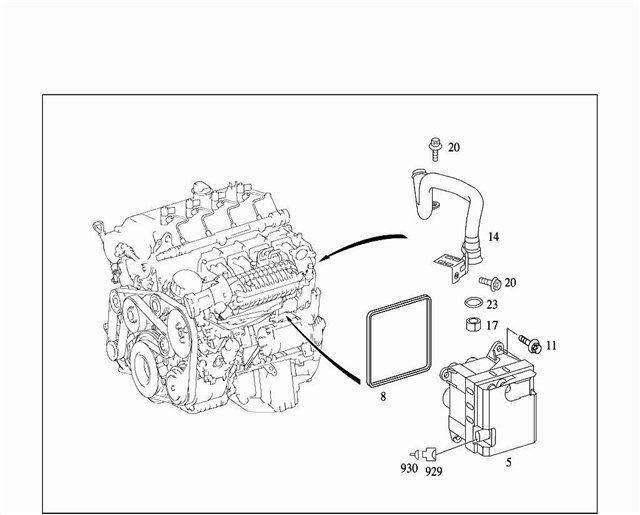 Тнвд, топливоподкачивающий насос, топливный фильтр и охладитель топлива mercedes-benz w203