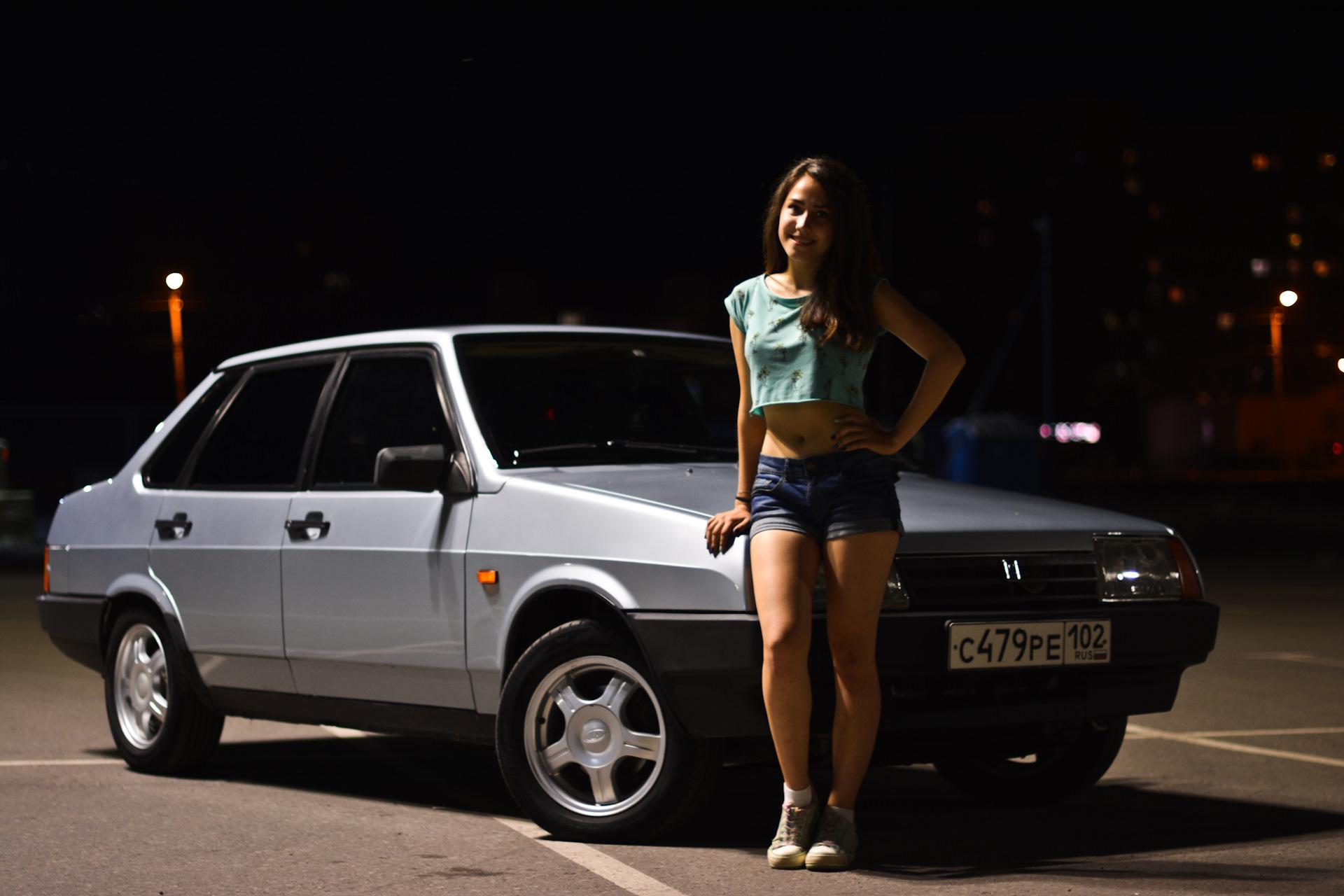Картинки машины с девушками ваз