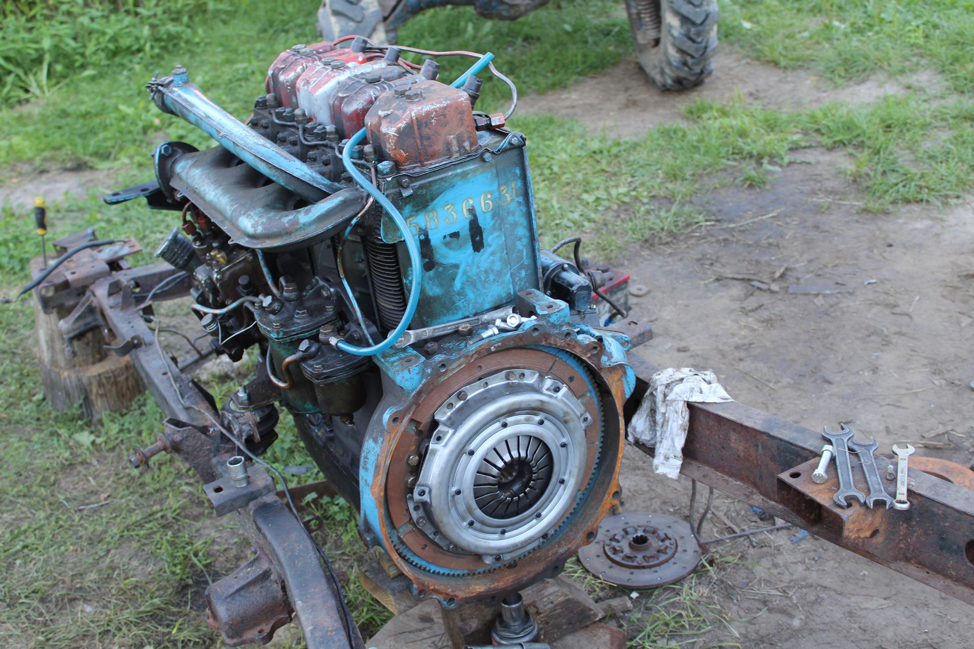 подвиг уаз с двигателем от трактора фото то, что