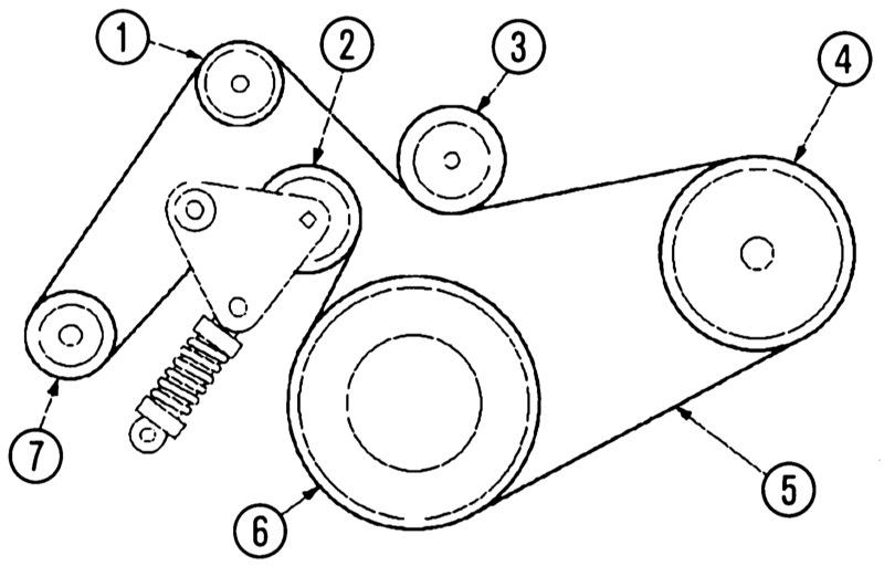 Схема ремня форд мондео 3 фото 626