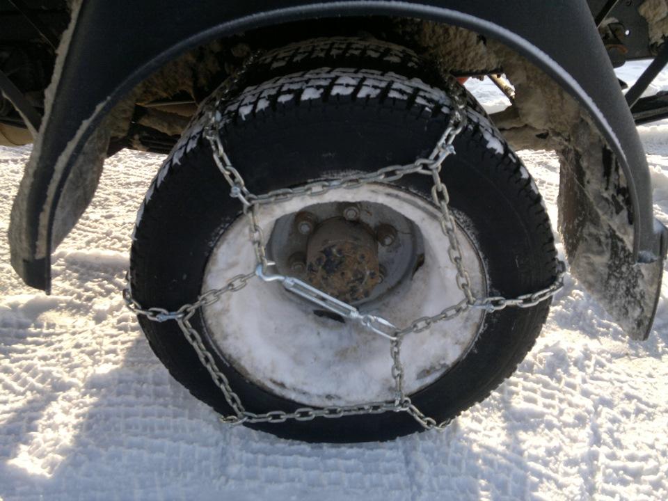 недостаточную цепкость шин устраняем цепью - бортжурнал ГАЗ Газель рама газ 53 самосвал 2005 года на DRIVE2