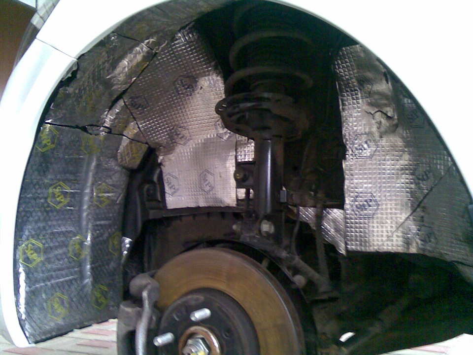 Шумоизоляция колесных арок своими руками на киа рио