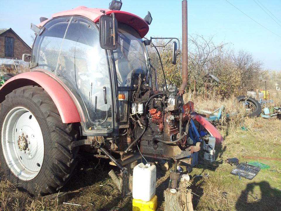 Замена в у на трактор