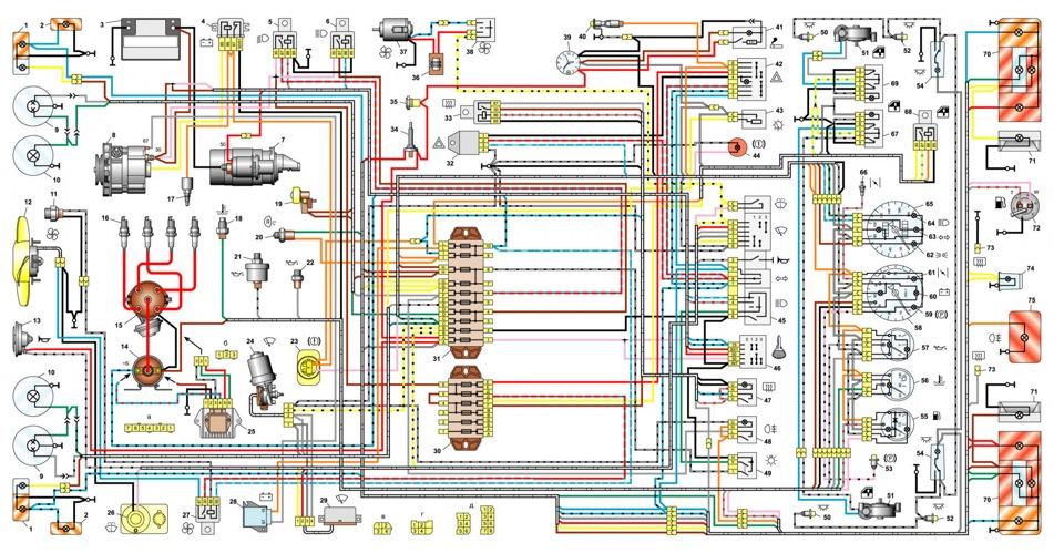 Электрооборудование схема ваз 2106.