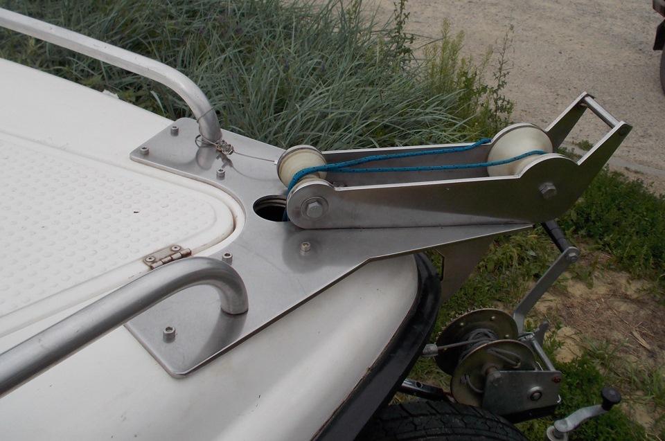 Как сделать лебедку для лодки 76