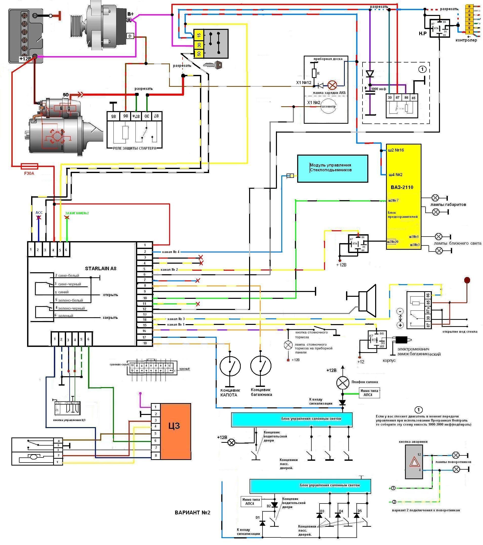 Инструкция и схема подключения сигнализации Томагавк 28