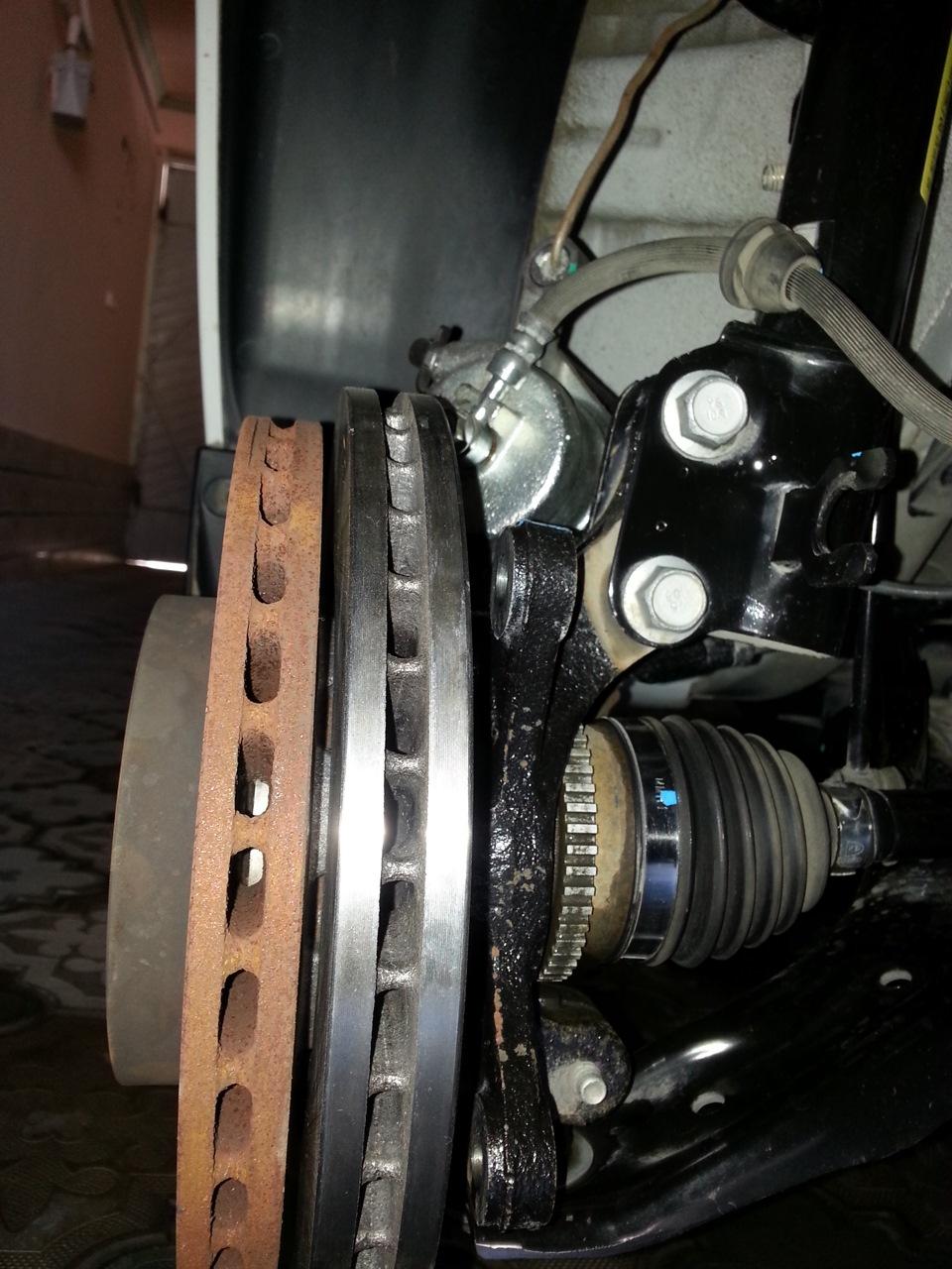 Шевроле лачетти замена передних тормозных дисков