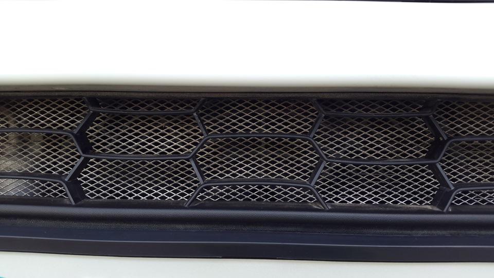 Сетка в решётку радиатора калина 2 своими руками