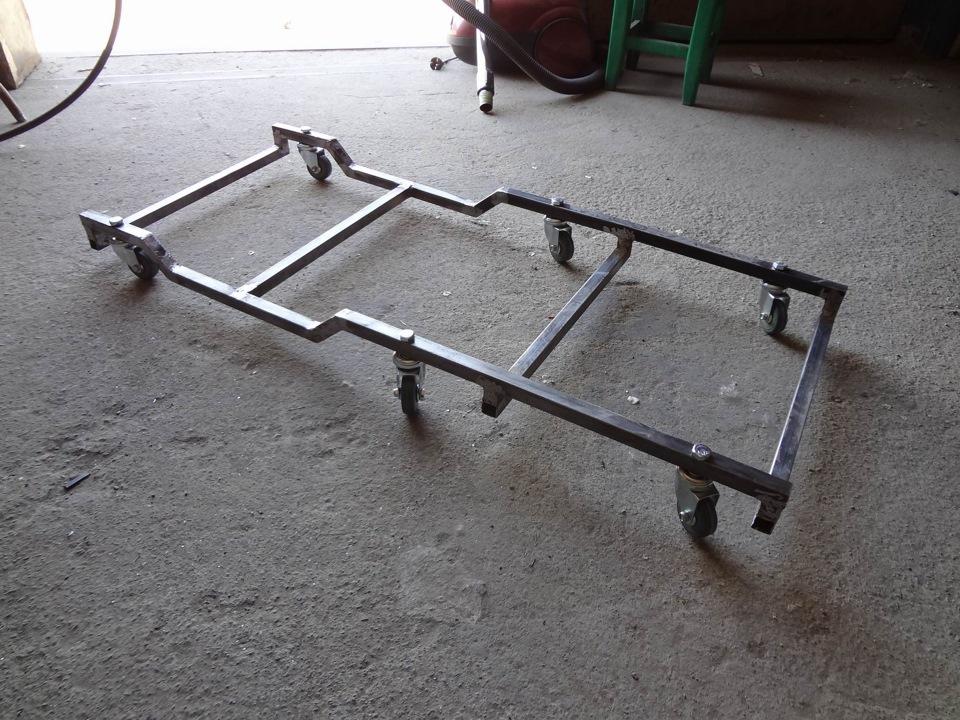 Тележка для ремонта автомобиля лёжа своими руками 88