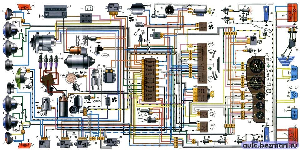 электрическую схему ваз 21-21 нива