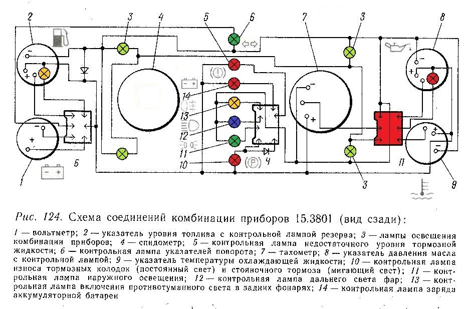 Прибор панели ваз 2107