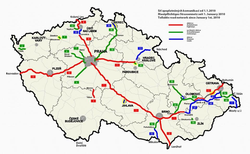 Платные дороги Чехии