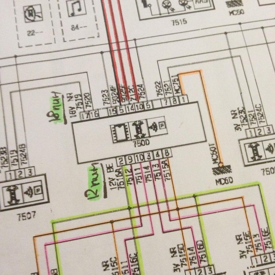 схема проводки ситроен с4