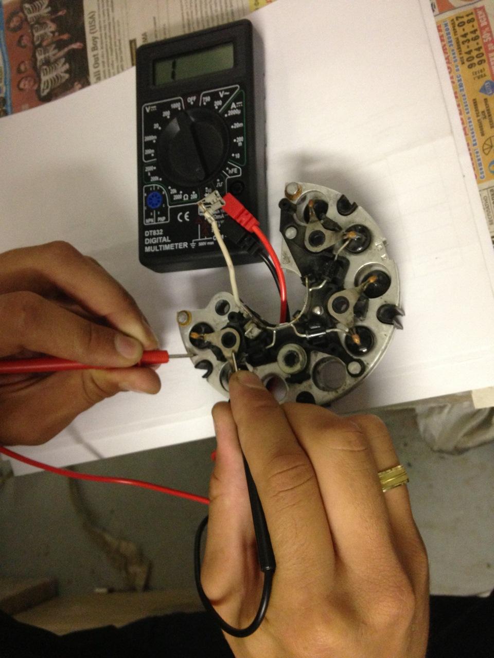 Ремонт автомобильного генератора проверка диодного моста своими руками 78