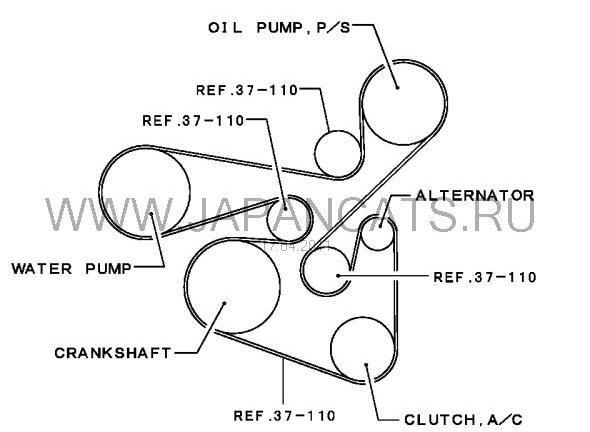Схема ремня генератора Ланцер