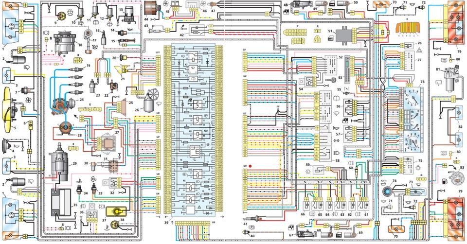 Схема электрическая 2108