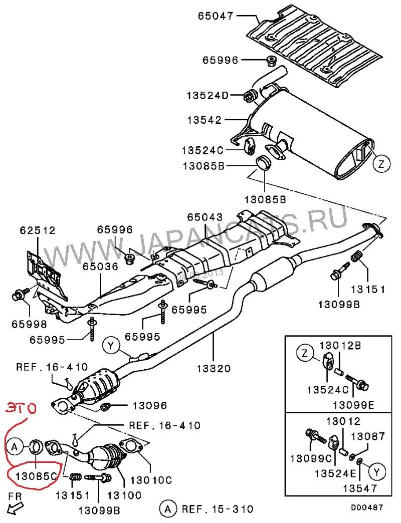Выхлопная система лансер 10 схема