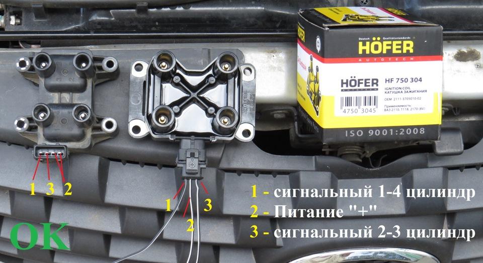 Как проверить модуль зажигания ваз 2110 инжектор 16 клапанов