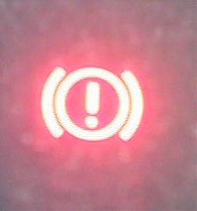 Горит лампочка тормозной системы