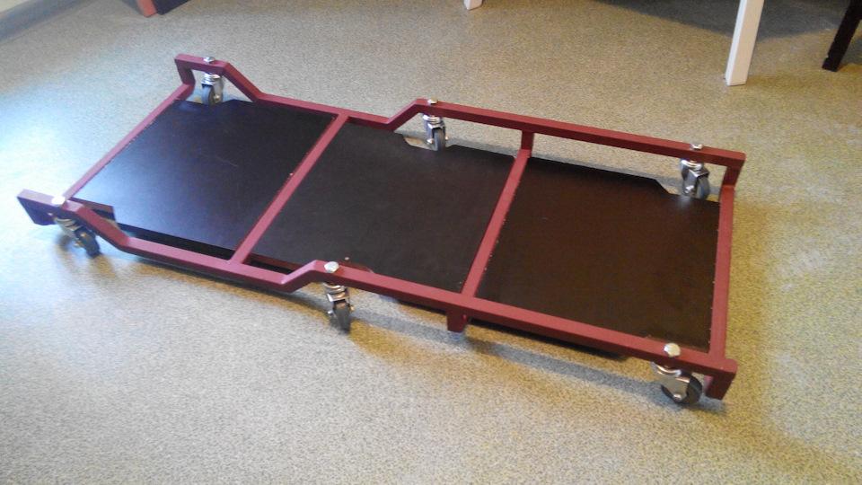 Подкатная тележка для ремонта автомобиля своими руками 91