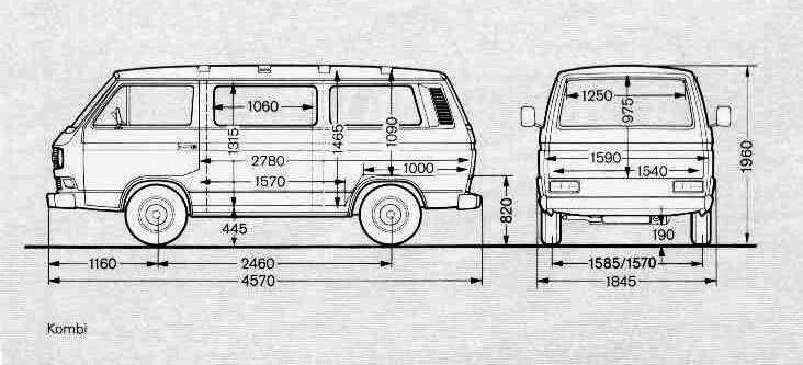 размер фольксваген транспортер т3