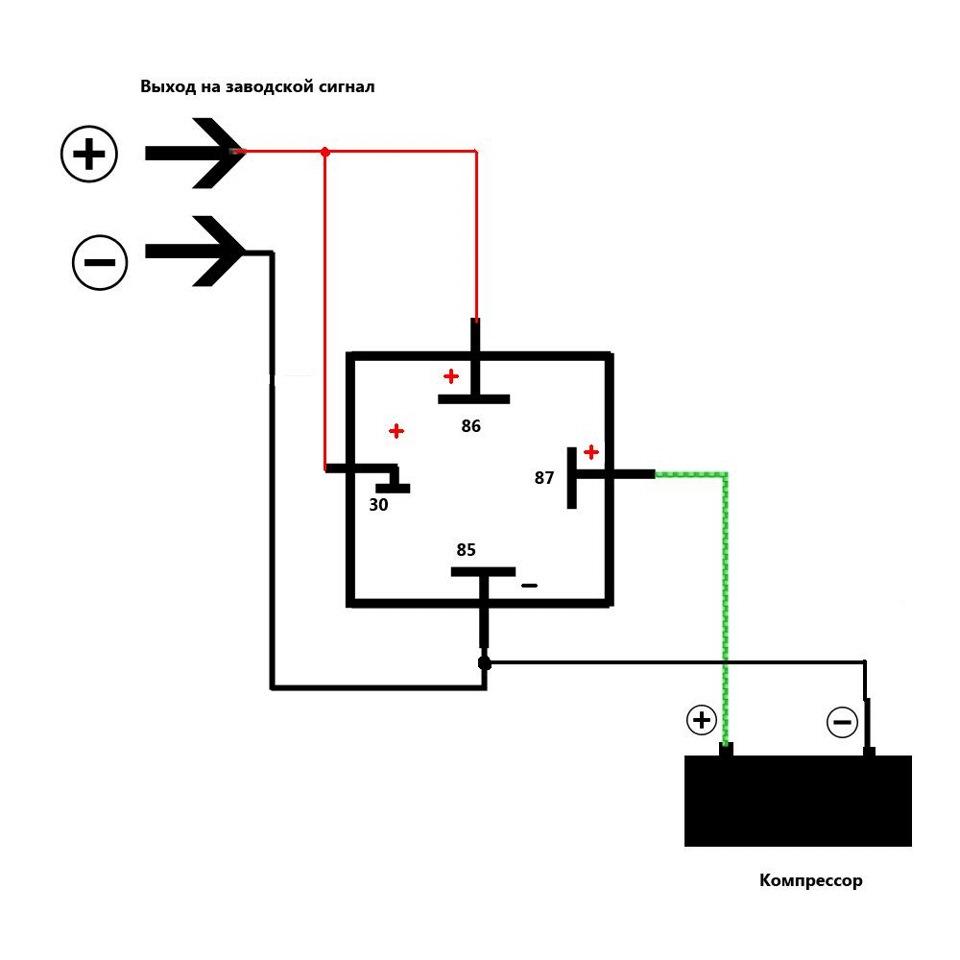 Схема подключения воздушного компрессора фото 114
