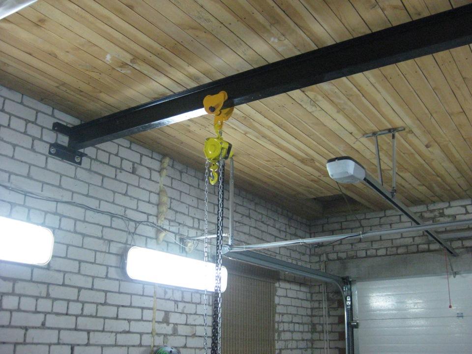 Кран балка в гараже 108