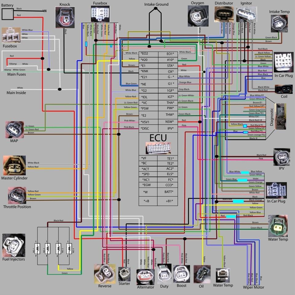 схема управления двигателем 2e toyota starlet
