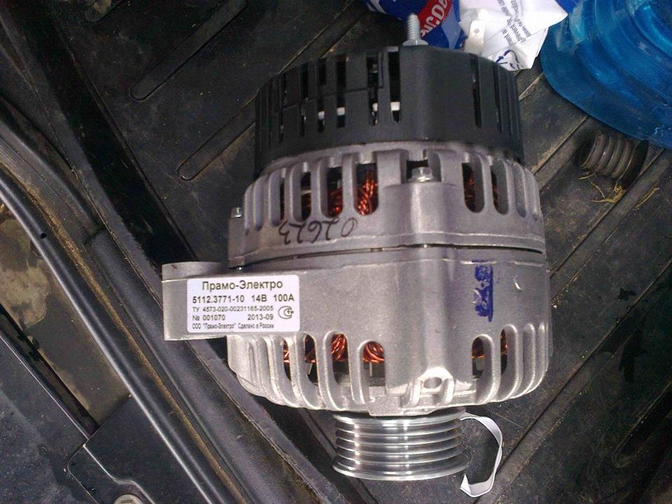 Ремонт генератора прамо 100а