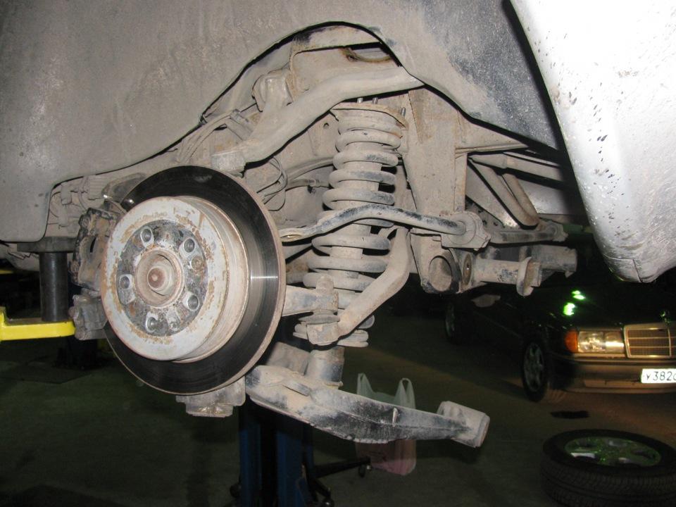 замена задних стоек на мерседес ml320