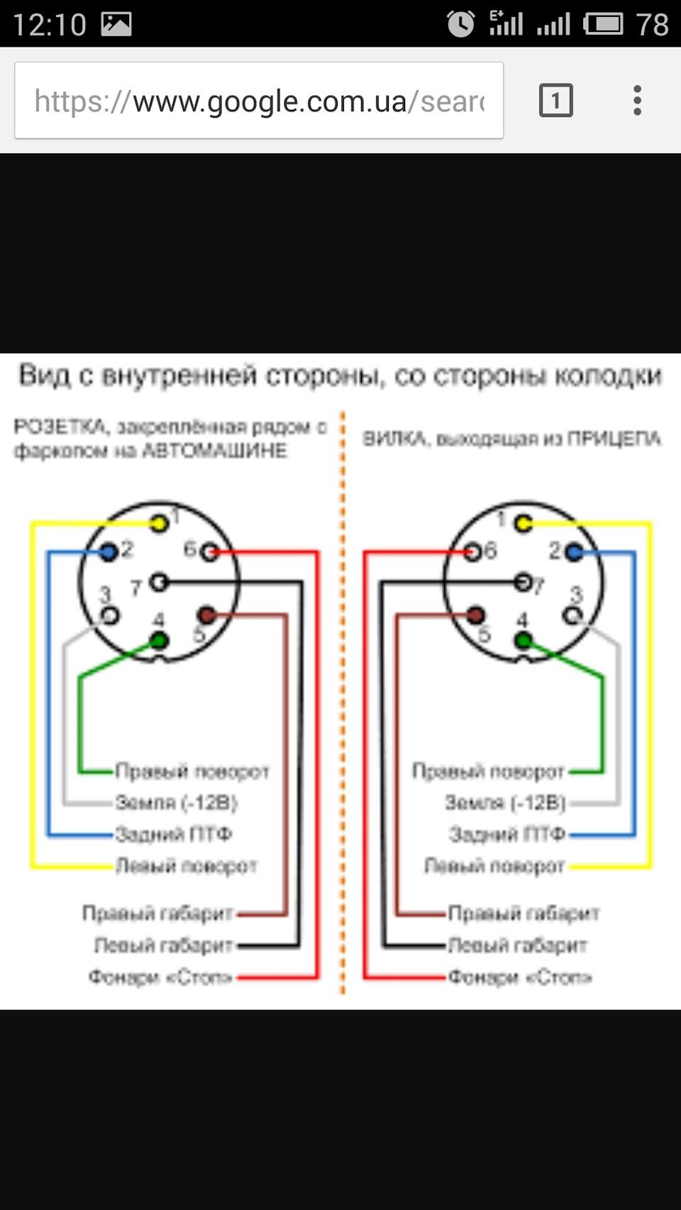Схема подключения проводки фаркопа