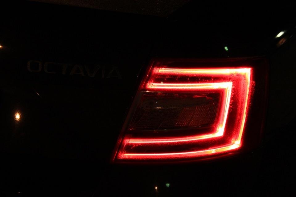 led подсветка катафотов skoda octavia