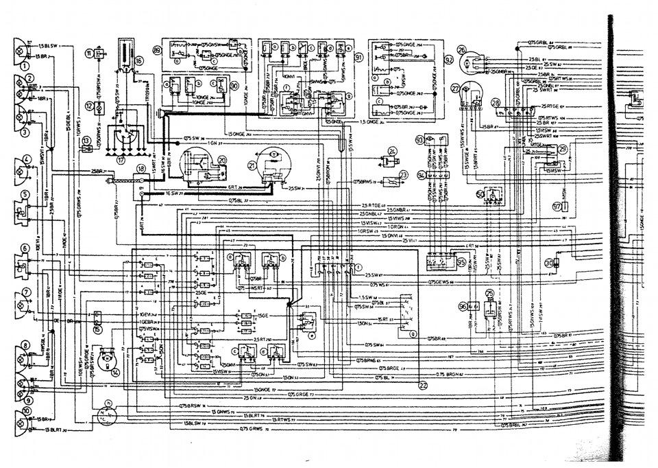 электро схема BMW E12