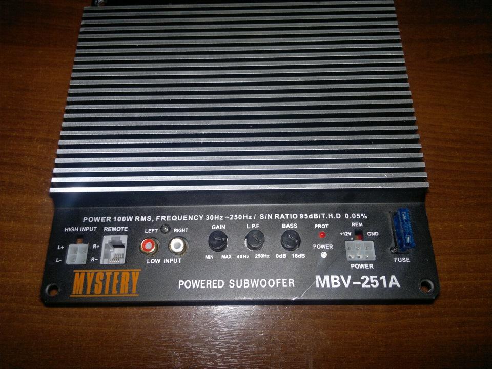 Инструкция для сабвуфера mystery mbv 301a