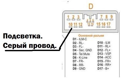 схема подключения автомагнитофона honda zrv