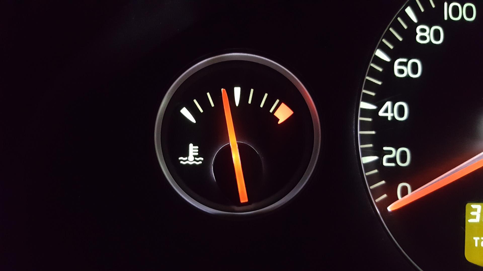 температура антифриза моторов вольво