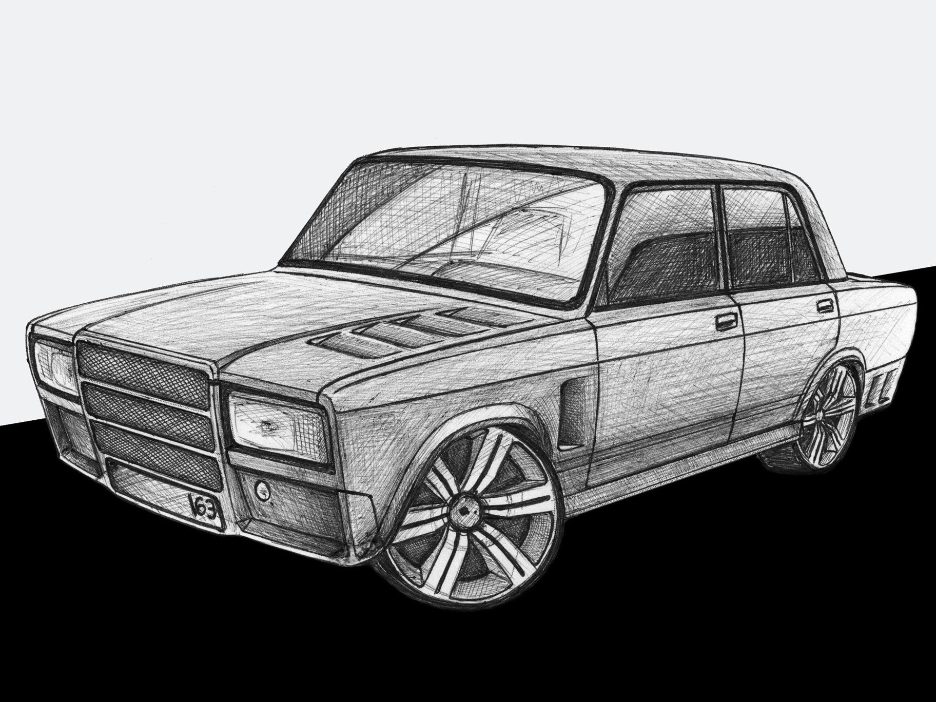истоки картинки карандашом наши русские машины осуществить печать, краски