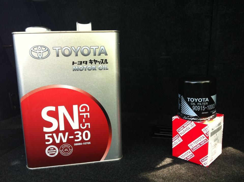 оригинальное масло тойота 5w30 toyota 08880-10705 отзывы