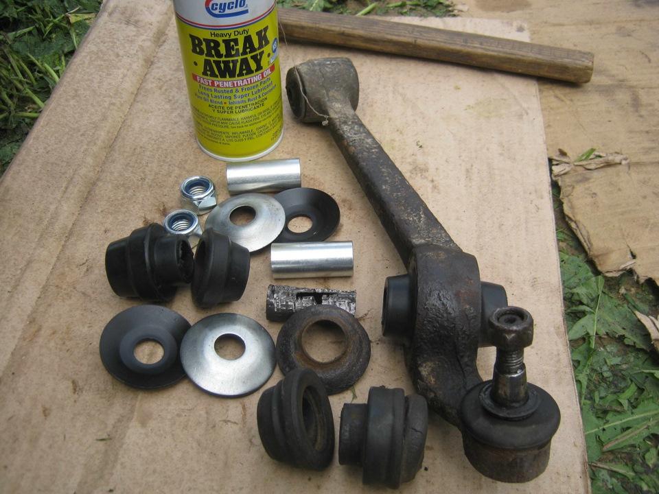 замена втулок рычага крепления стабилизатора ford sierra