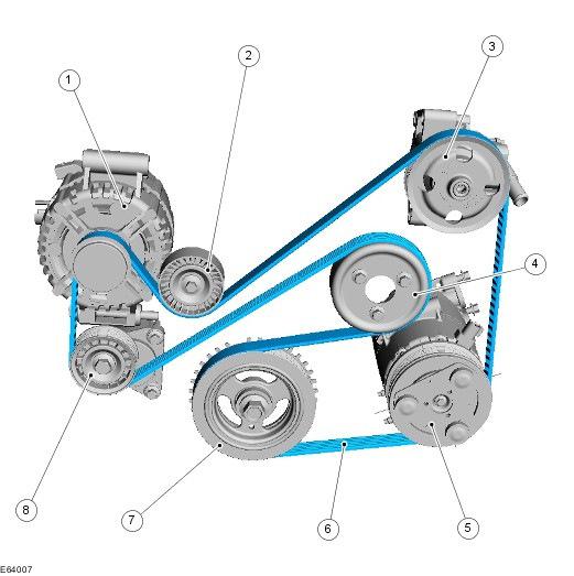 Схема ремня форд мондео 3 фото 95