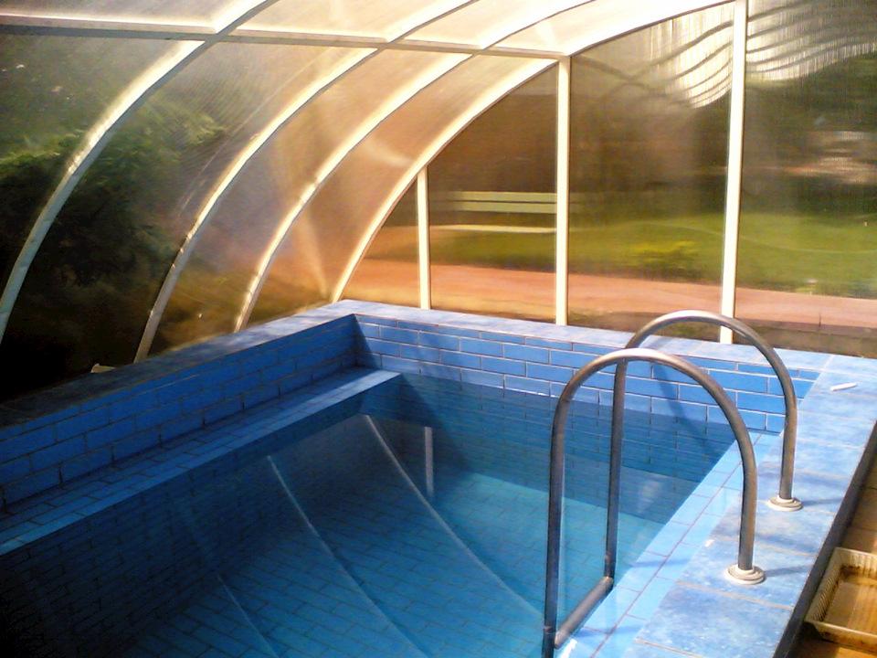 бассейн в теплице на даче фото
