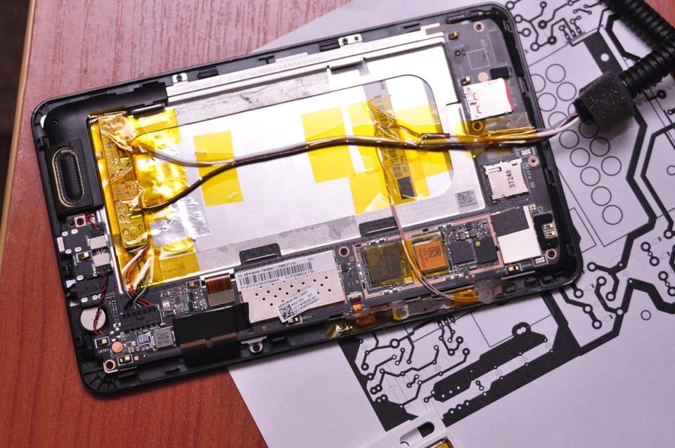 на планшете картинка батарея и провод новых