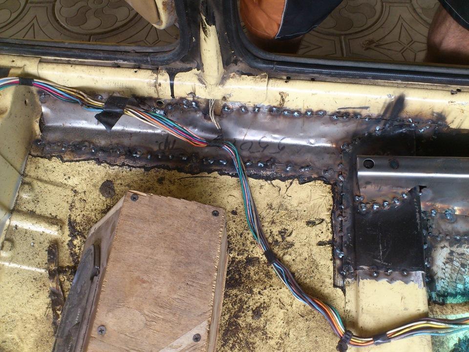 Ваз 2106 ремонт днища своими руками