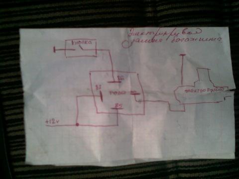 что потребовалось: кнопка открывания багажника ваз2110 сам электропривод реле 4-х контактное+к нему колодка проводов...