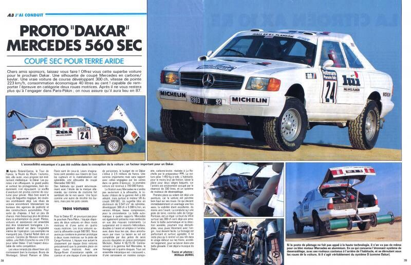 1987 paris dakar mercedes benz 560 sec 4x4 c126 drive2. Black Bedroom Furniture Sets. Home Design Ideas